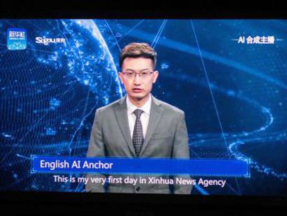 Agência Xinhua incorporou dois avatares de aparência real para transmitir algumas notícias