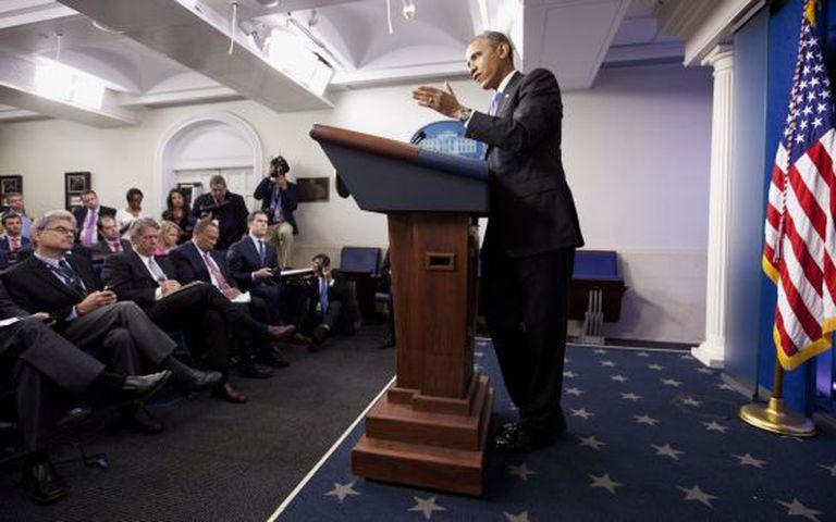 Obama se explica aos jornalistas pelo caso dos veteranos.