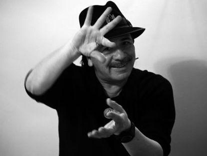 O guitarrista Carlos Santana, fotografado em Madri.