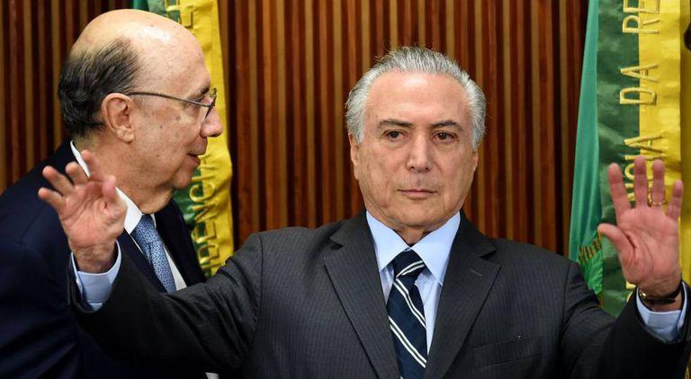 Meirelles e Temer em Brasília.
