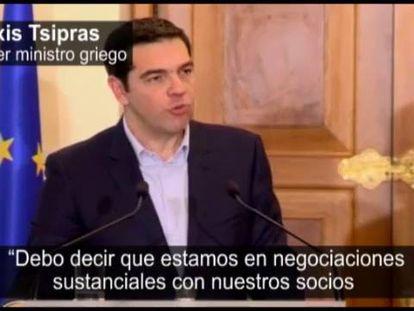 Alexis Tsipras, nesta segunda-feira em Nicósia.
