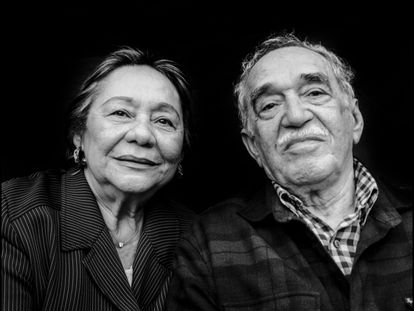 Mercedes Barcha Pardo e Gabriel García Márquez em Los Angeles, em 2008.