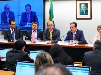 Eduardo Cunha participa de uma reunião da Comissão Especial da PEC 171/93.