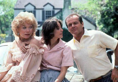 Shirley MacLaine, Debra Winger e Jack Nicholson em ' Laços de Ternura'
