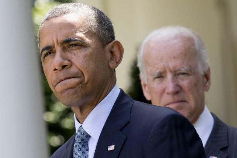 O presidente Obama e o vice-presidente Joe Biden.