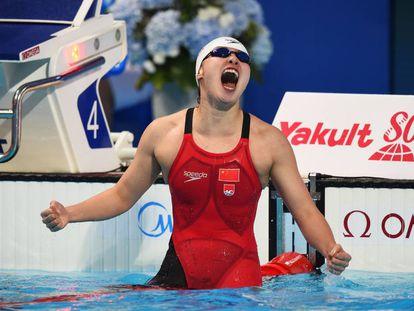 Fu Yanhui após prova.