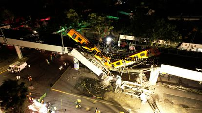 Acidente na Linha 12 do Metrô da Cidade do México.