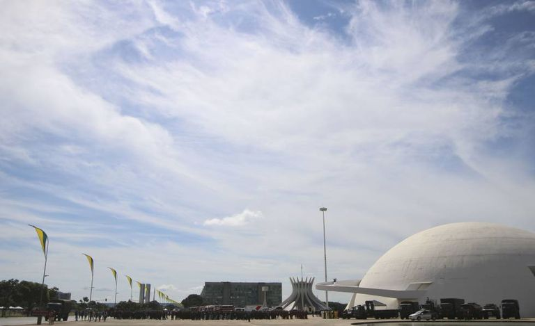 Esplanada dos Ministérios, em Brasília.
