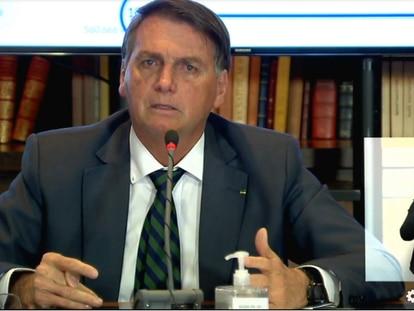 Reprodução da 'live' do presidente Jair Bolsonaro.