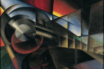 Ivo Pannaggi, 'Trem em movimento', 1922.