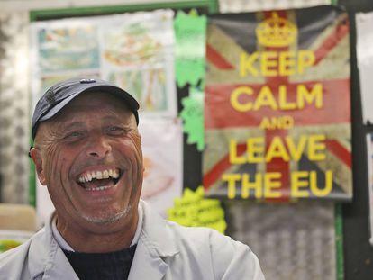 O mercado de Havering, em Londres, onde a maioria votou a favor do Brexit