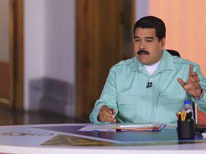 Maduro, durante seu programa de televisão.