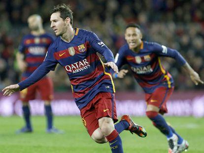Messi comemora seu gol diante do Celta.