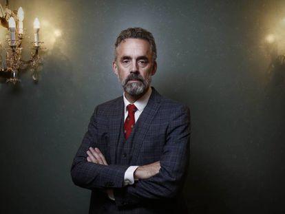 Jordan B Peterson, nesta terça-feira, num hotel de Madri