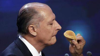 O ex-governador Alckmin, no dia 9 de agosto.
