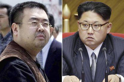 Kim Jong-nam (à esq.), irmão do líder da Coreia do Norte, Jim Jong-un (à dir), que foi assassinado em 13 de fevereiro.