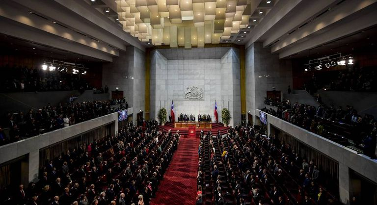 Vista geral do congresso do Chile.