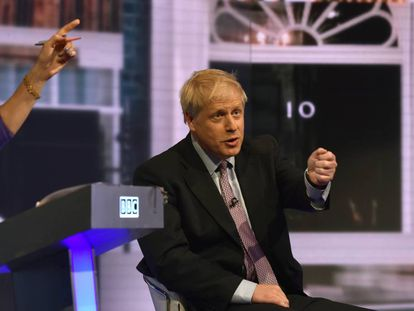 O primeiro-ministro britânico, Boris Johnson, durante um debate televisionado pela BBC realizado em junho.