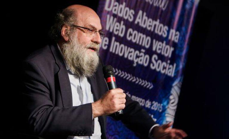 Getschko no lançamento do Centro de Estudos sobre Tecnologias Web (Ceweb.br), em março de 2015.