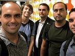 Da esquerda para a direita,Eduardo, Renan, Jair, Carlos e Flávio.