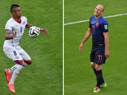 Arturo Vidal e Robben.