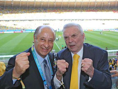 José Maria Marin e Marco Polo Del Nero, na Copa do Mundo do Brasil.