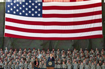 O presidente Obama, em um discurso pronunciado em 2011 em Fort Bragg.