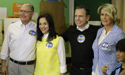 Geraldo Alckmin (à esq.) e João Doria.