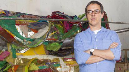 Nuno Ramos em seu ateliê
