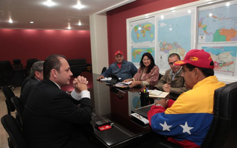 Maduro, com acionistas de Globovisión, que possuem propriedades em Miami.