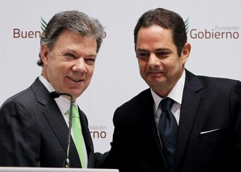 Juan Manuel Santos e seu ex-ministro Germán Vargas Lleras.