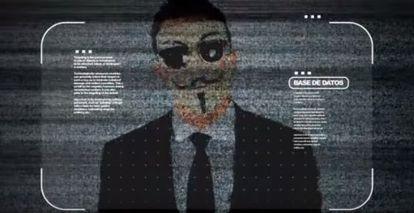 Imagem do vídeo publicado pelo Anonymous.