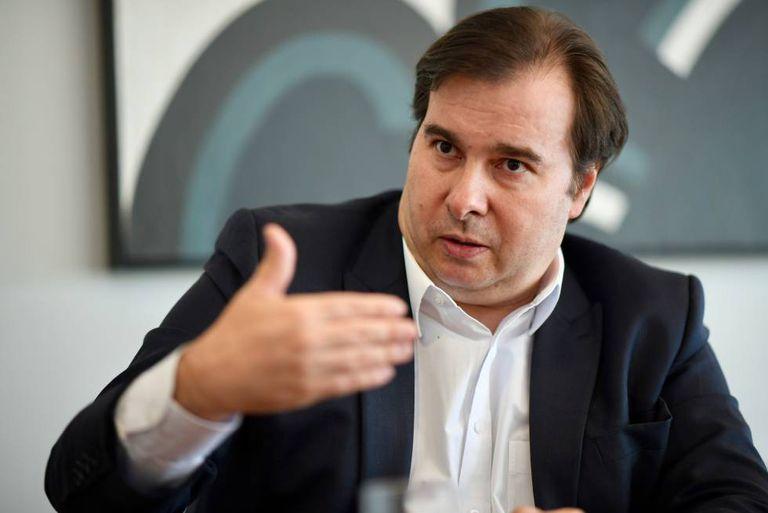 O presidente da Câmara, Rodrigo Maia, em Brasília