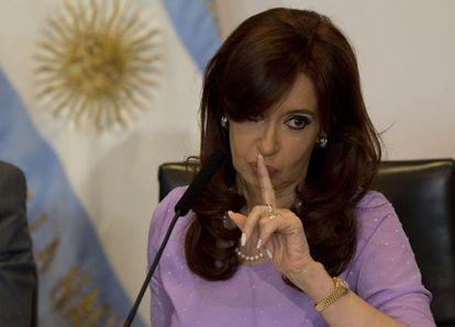 A presidenta argentina, Cristina Fernández, em 11 de fevereiro.