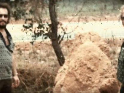 A foto que, supostamente, amostra aos Anglin em 1975.