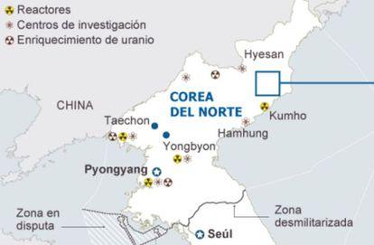 Gráfico das provas nucleares anteriores.