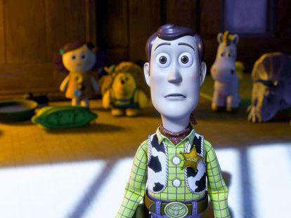 Woody, em 'Toy Story 3', ao ver algo que não lhe agrada nem um pouco.