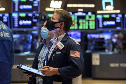 A Bolsa de Nova York, em 4 de dezembro