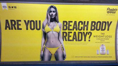 Anúncio do metrô de Londres no ano passado.