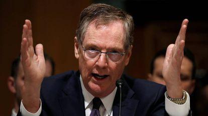 Robert Lighthizer em seu depoimento ante o Senado de EUA