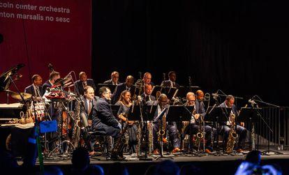 Apresentação da orquestra no Campo Limpo, em São Paulo.
