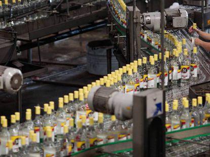 Fábrica da cachaça 51 em Pirassununga.