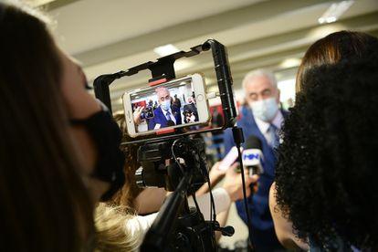 Membro da CPI da Pandemia de Covid-19, senador Otto Alencar (PSD-BA) concede entrevista antes do início da instalação da comissão.