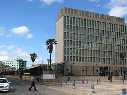 Seção de Interesses dos EUA em Havana (Cuba).