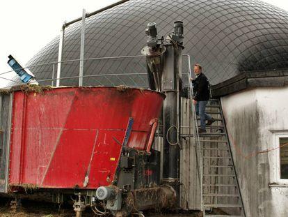 O pecuarista Wendelin Einsiedler obtém 80% da sua receita com as energias renováveis