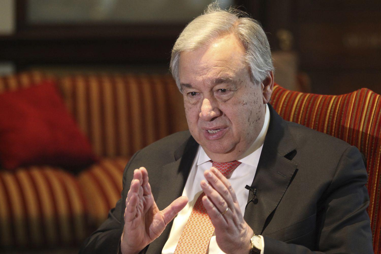 O secretário-geral da ONU, António Guterres, na terça-feira em Lahore.