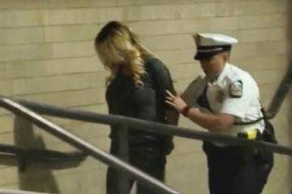 Stormy Daniels, detida em Columbus (Ohio, EUA).