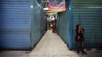 Comércios fechados no distrito de Xochimilco, na Cidade do México, em 31 de março.