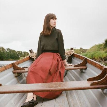 Sally Rooney, que está lançando seu terceiro romance, 'Beautiful World, Where Are You', fotografada em julho