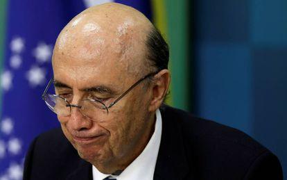 Ministro da Fazenda, Henrique Meirelles, durante coletiva nesta quinta.